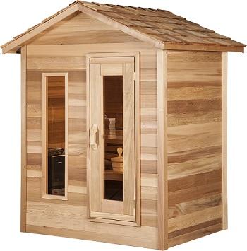 Outdoorsauna aus Zedernholz für 3 – 4 Personen