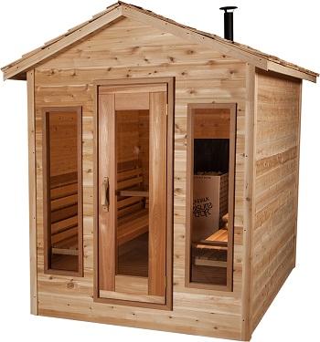 Outdoorsauna aus Zedernholz für 4 – 5 Personen